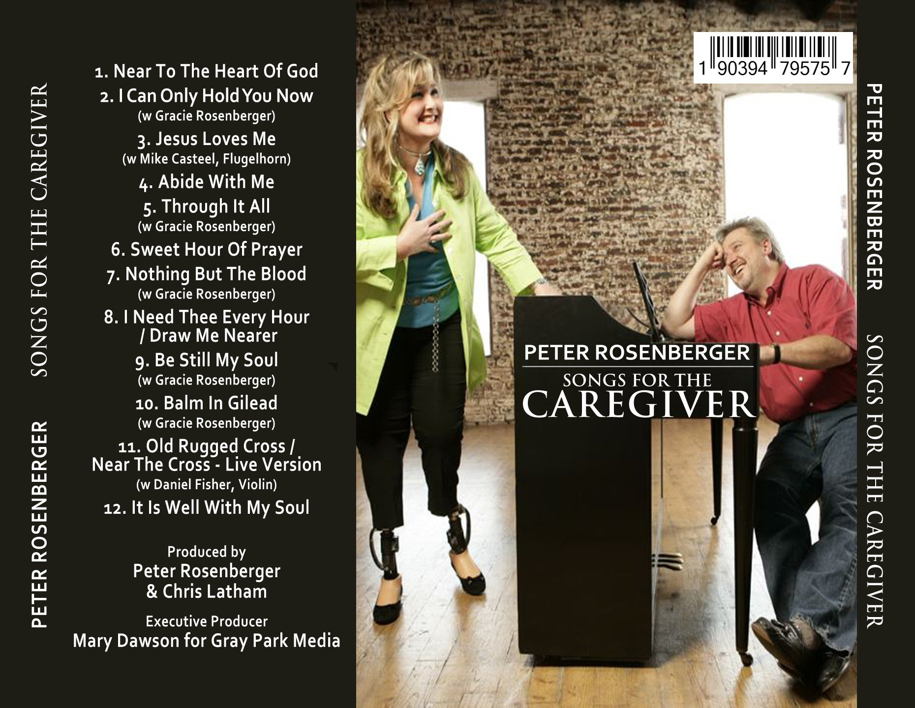 List of Songs for Caregivers Produced by Peter Rosenberger